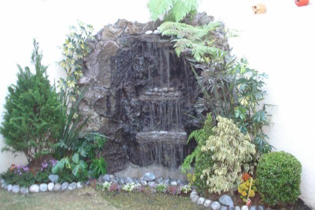 Cascada de piedra volcanica jardineria xochimilco for Cascadas de piedra