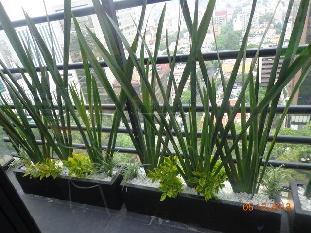 Jardineras Con Bambu. Gallery Of Jardinera De Metal Rectangular ...